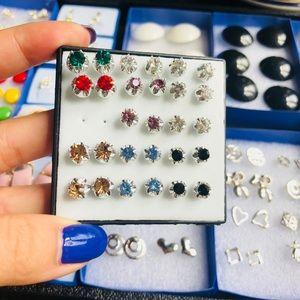 1 Pair Gemstone Stud Earrings